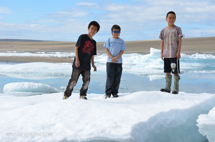 Young Inuit boys in Resolute Bay, Nunavut